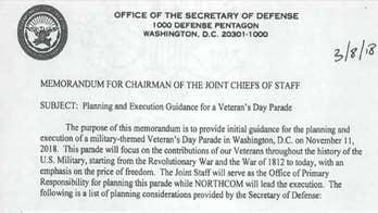 Department of Defense memorandum establishes the date, location, theme and parameters.
