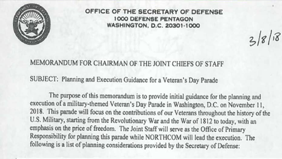 New details of President Trump's military parade