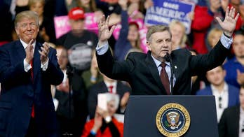 Rick Saccone has the full-throated backing of the Republican Party and President Trump; Molly Line reports from Carnegie, Pennsylvania.