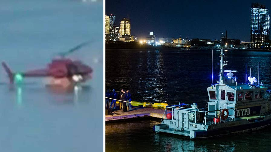 Helicopter crash in Manhattan's East River kills all 5 passengers. Pilot is the lone survivor.
