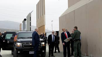 Trump in California to get firsthand look at eight designs for a wall with Mexico; Jonathan Hunt reports from San Diego.