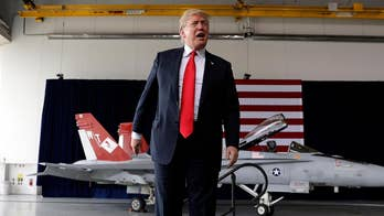 Trump tells military members at Miramar Air Station in San Diego, California that space is a war-fighting domain.