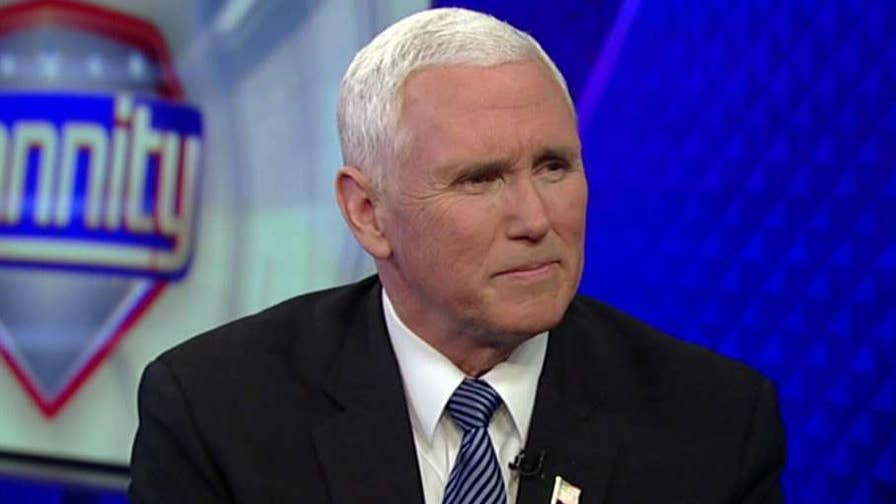 In a 'Hannity' exclusive, Vice President Mike Pence weighs in on California refusing to enforce federal immigration laws and Joy Behar attacking his faith.