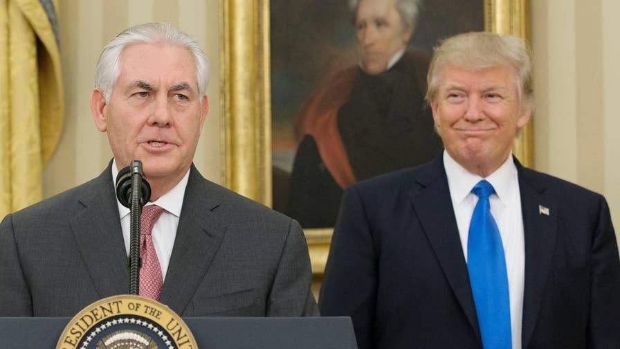 A look back on the history of tension between President Donald Trump and Rex Tillerson during his tenure as secretary of state