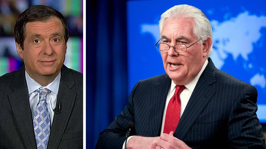 'MediaBuzz' host Howard Kurtz weighs in on President Trump firing Rex Tillerson for irreconcilable differences.