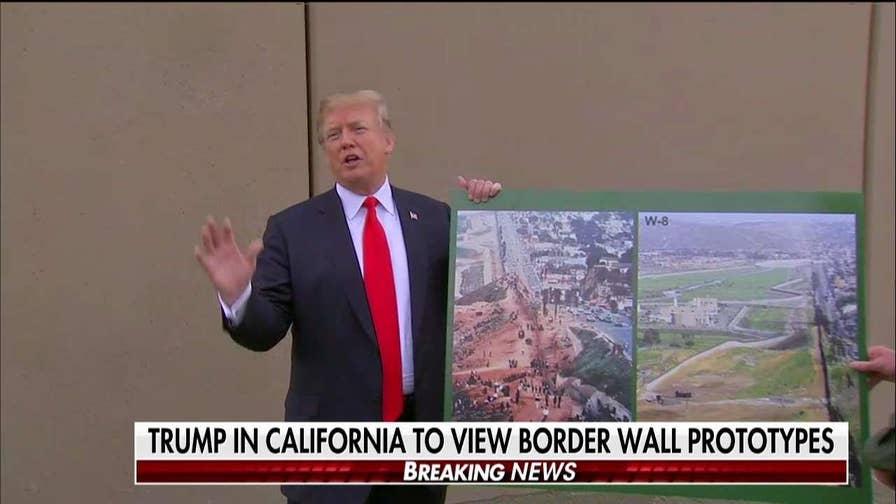 Trump Visits Border, Rips Brown