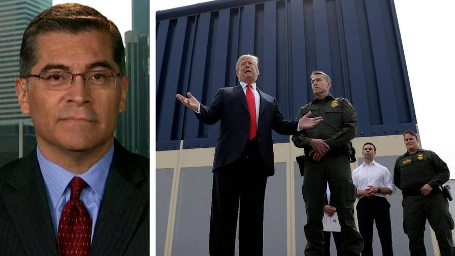 California Attorney General Xavier Becerra says the Trump administration doesn't have the legal authority to build the type of wall proposed and is prepared to go to court to make that case.