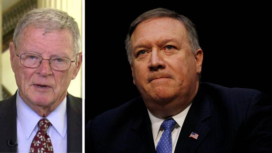 Senator James Inhofe weighs in on Trump's decision to replace Rex Tillerson with Mike Pompeo, and speaks to Tillerson's shock upon receiving the news.