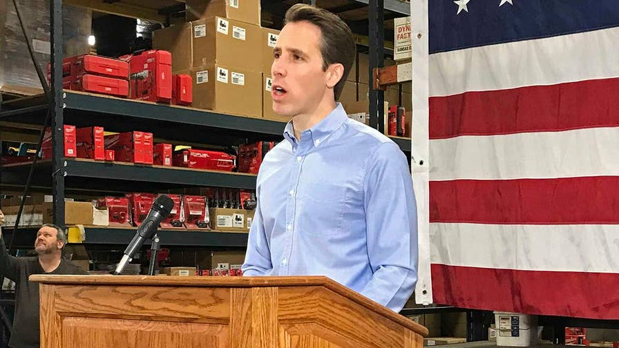 Josh Hawley is trying to unseat one of the 10 Senate Democrats hoping to win re-election in a state President Trump won; Peter Doocy reports.