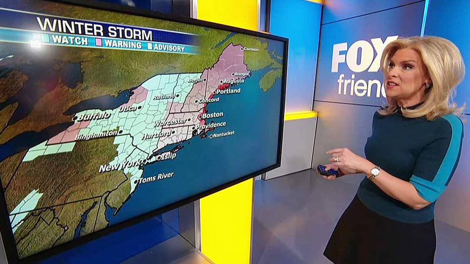 National forecast for Tuesday, March 13
