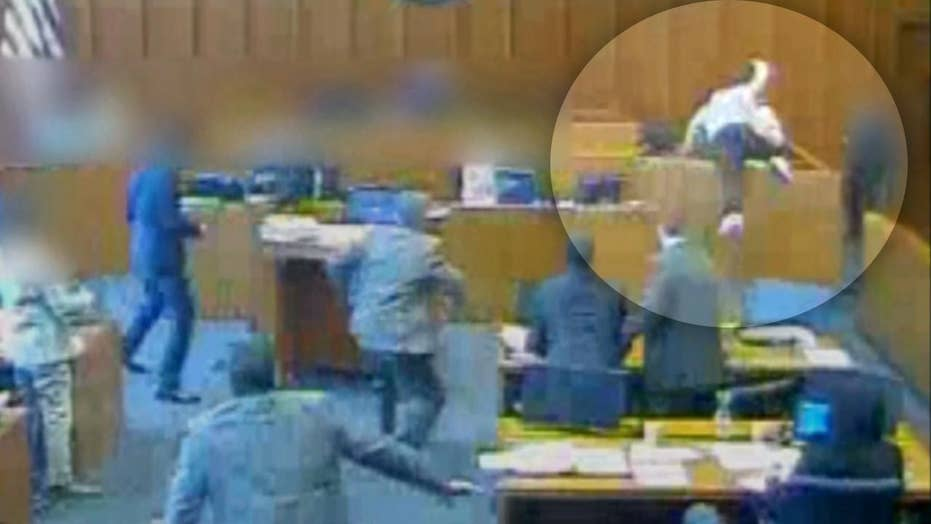 Gang member attacks witness at trial before fatal shooting