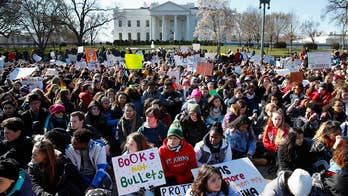 Protesting students walked out of classrooms across the country to demand safer schools and stricter gun control; Phil Keating reports from Ft. Lauderdale.