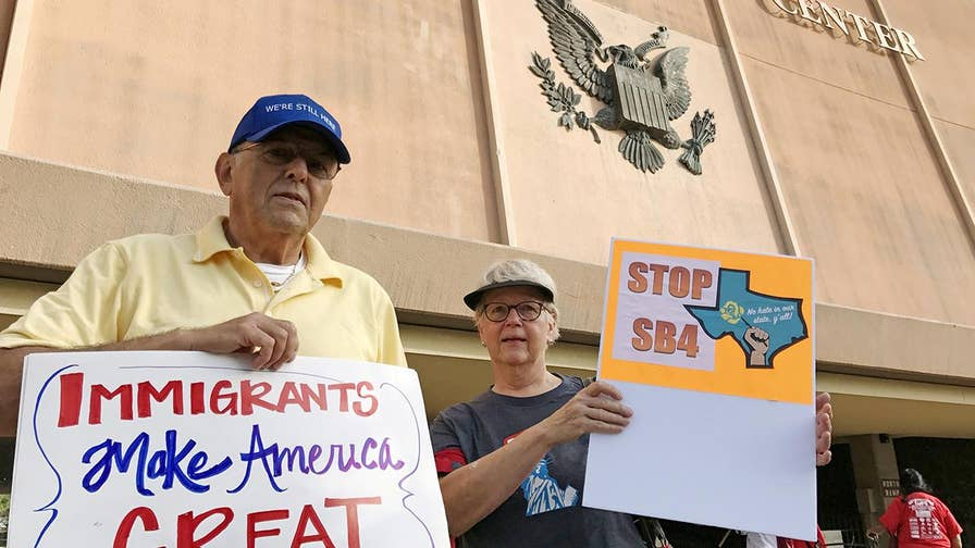 Law threatens officials with jail time for not cooperating with federal immigration authorities. Casey Stegall reports from Texas.