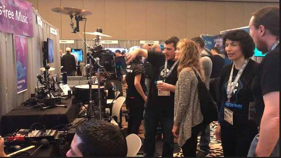 Microsoft showcases eye-controlled music making software during SXSW.