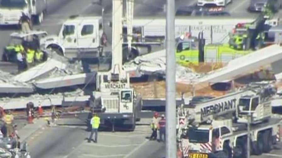 Restaurant owner near Florida International University pedestrian bridge that collapsed explains on 'Shepard Smith Reporting' what she and her husband saw during the aftermath of the collapse.