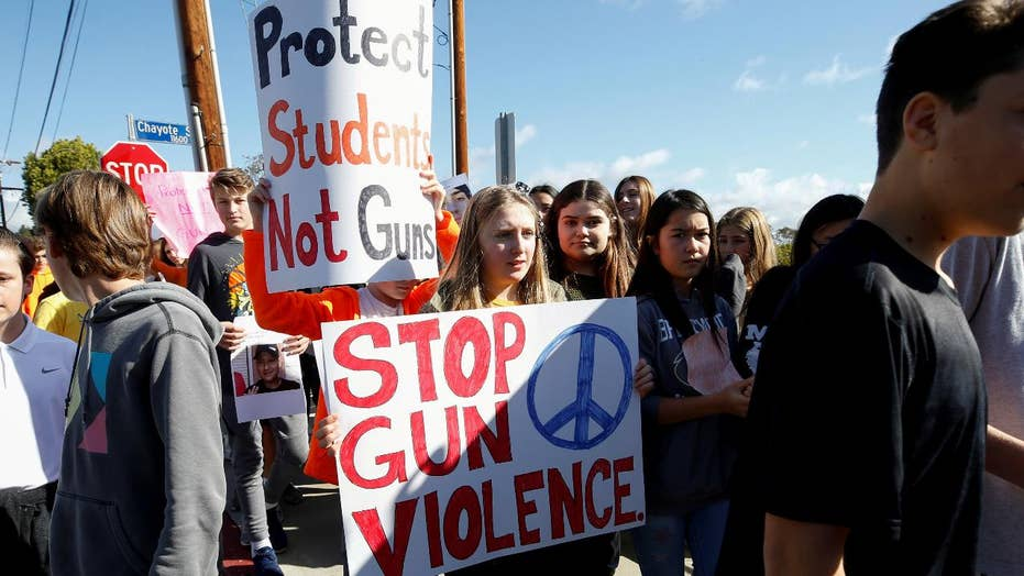 Students stage nationwide walkouts to protest gun violence