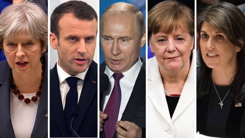 US, UK, French, German leaders blame Russia for poisoning