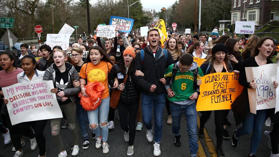 Mass student walkout one month after Parkland, Florida shooting
