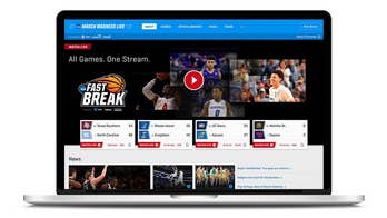 More than 60 NCAA games available live online.