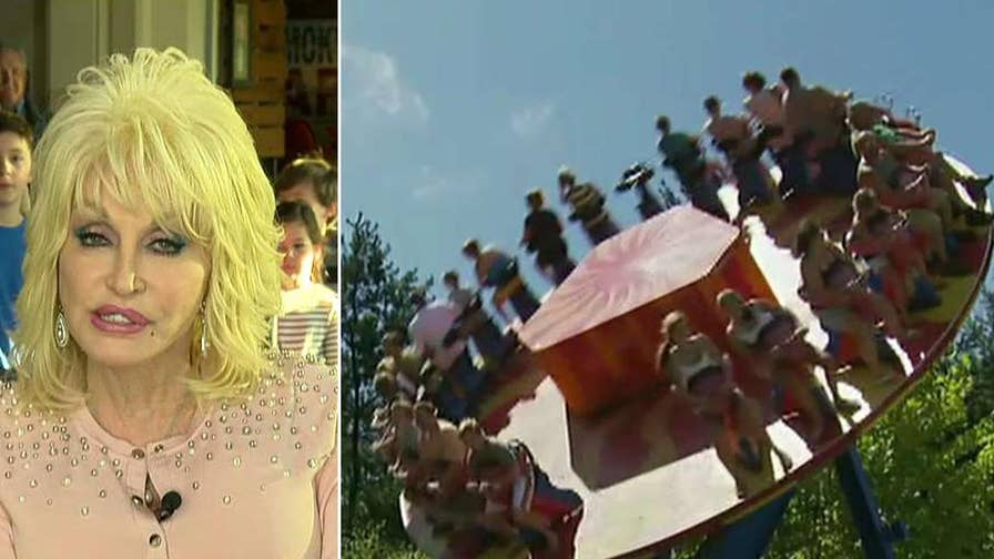 Country music legend opens up about her theme park and new movie.