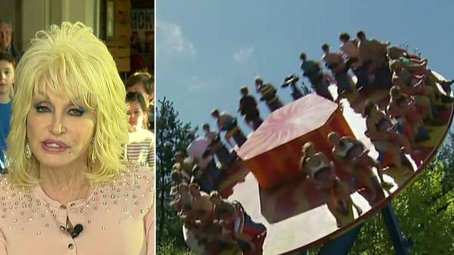 Dolly Parton on Dollywood's opening day for the 2018 season