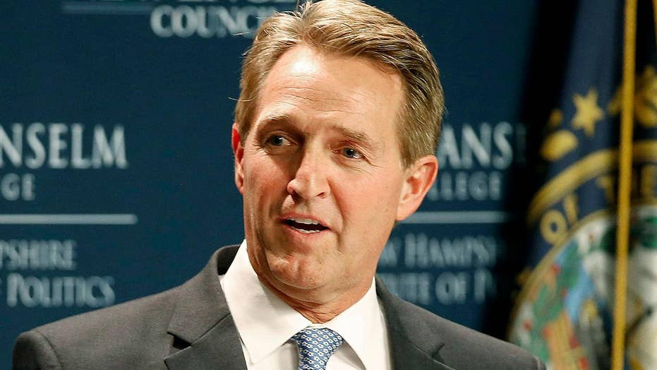 Sen. Jeff Flake calls for a Republican challenge to Trump