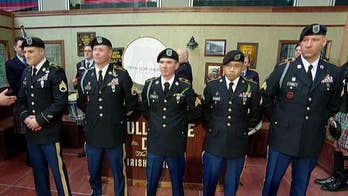 The Fighting 69th Infantry Division visits 'Fox & Friends' before kicking off the St. Patrick's Day parade in New York City.