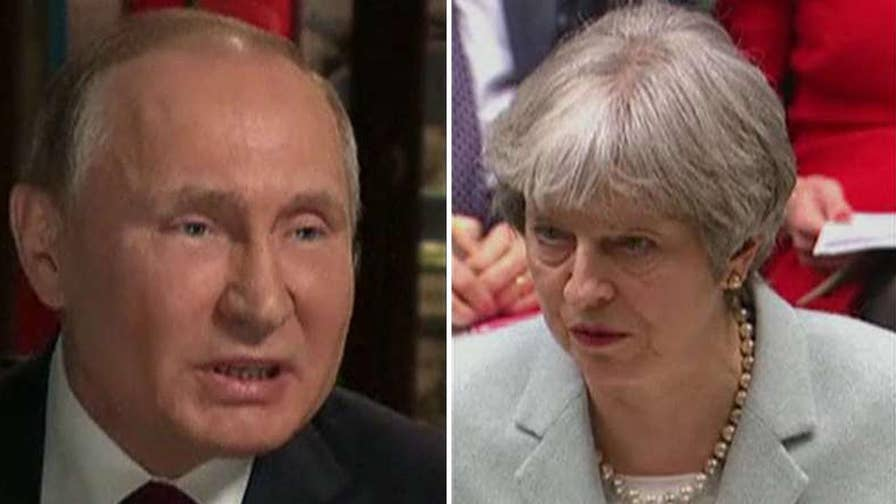 Response to U.K. kicking out Russian diplomats.