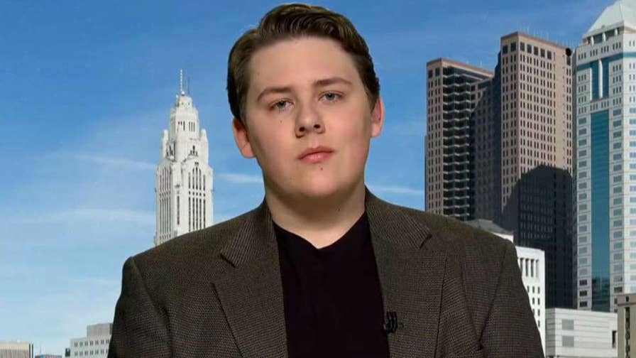 Ohio high school student Jacob Shoemaker says he was suspended for staying in the classroom during the National Walkout Day.
