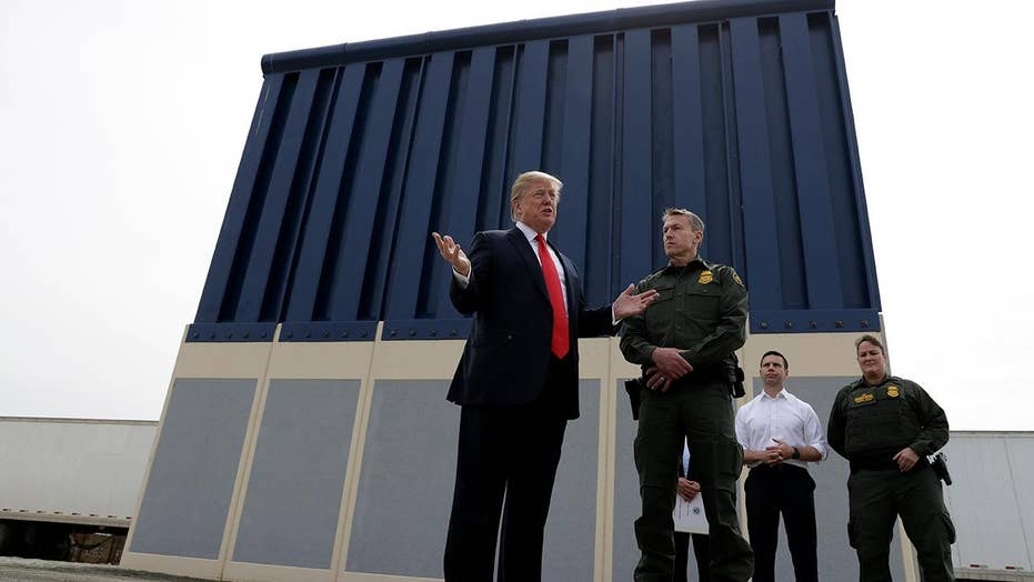 Trump gets first-hand look at border wall prototypes