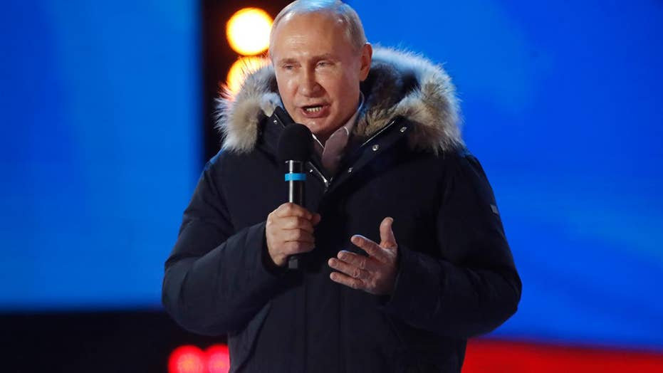 President Vladimir Putin wins a fourth term in office