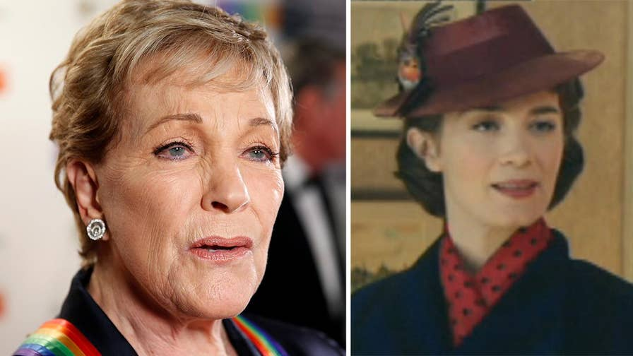 Top Talkers: Julie Andrews is pleased to hand over the magic bag and umbrella to actress Emily Blunt and calls the casting choice for 'Mary Poppins Returns' 'wonderful.'