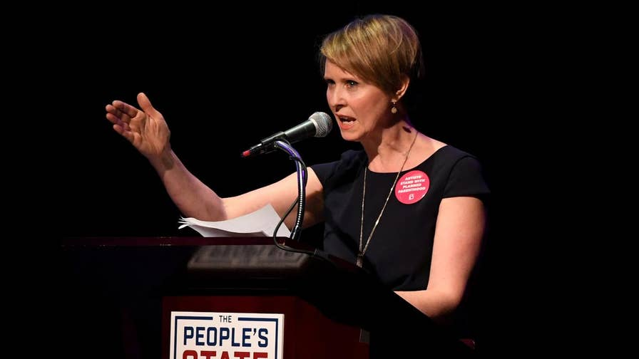 "Former ""Sex and the City"" star Cynthia Nixon took to Twitter to announce her plan to run for New York governor. The actress will challenge Gov. Andrew Cuomo in the Democratic primary in September."
