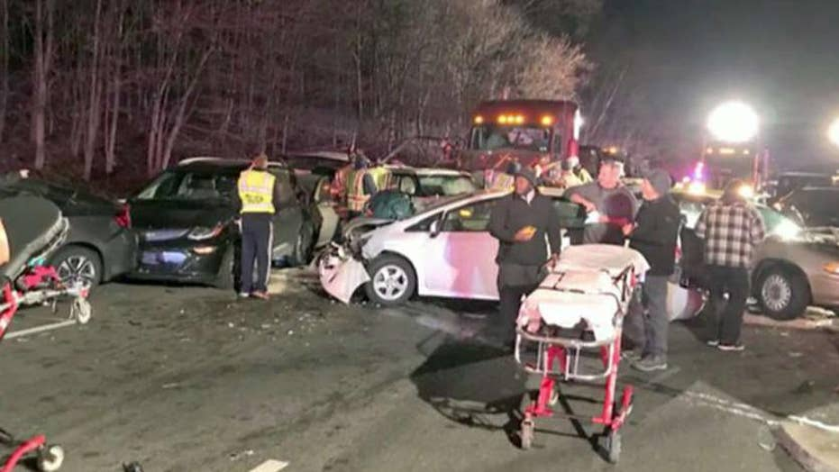 At least 20 cars crash causing closures on I-270 South