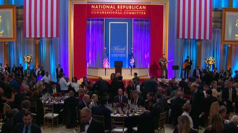 Trump attends Natl Republican Congressional Cmte Dinner