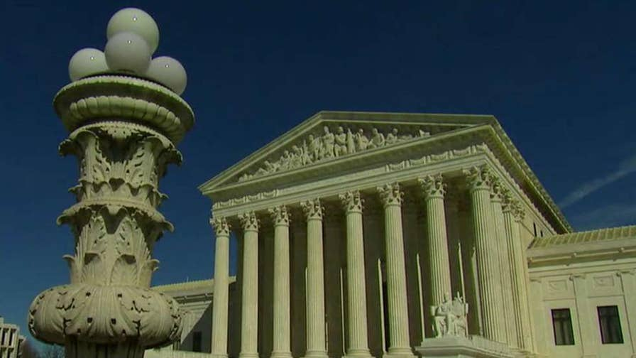 Supreme Court justices weigh whether pro-life pregnancy centers can be required to give out information about the availability of abortions; 'Fox News @ Night' anchor Shannon Bream reports.