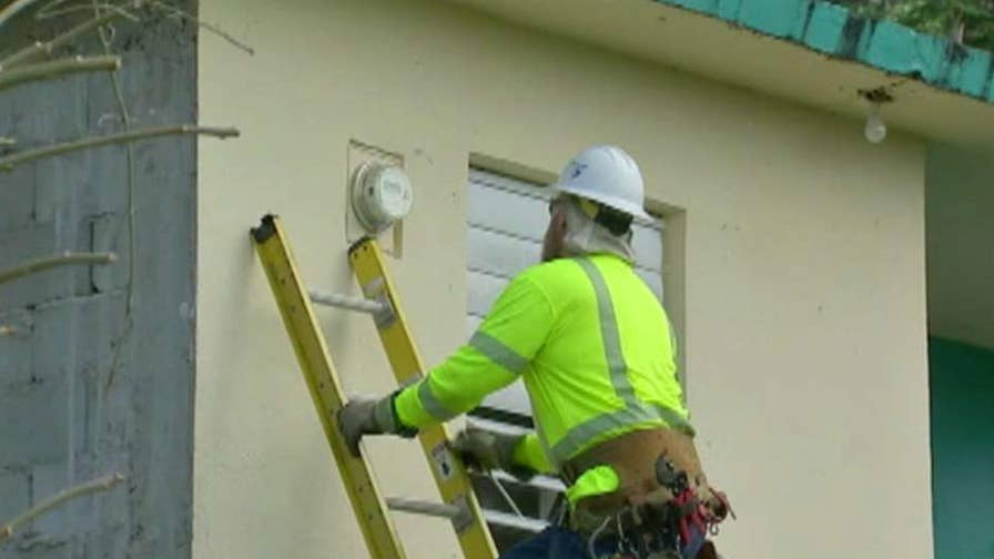 Power coming back on in homes six months after the storm hit the island; Bryan Llenas reports from Puerto Rico.