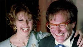 "Pam Dawber, who co-starred with Robin Williams on the hit sitcom ""Mork & Mindy,"" says in an upcoming book that the late comedian loved to joke around on set and there were no shortage of sexual antics while filming."