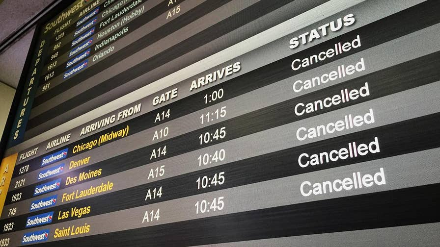 Airlines cancel thousands of flights as powerful storm slams the Northeast; Rick Levanthal reports from Laguardia Airport.