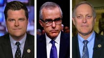 Republican congressmen speak out on 'Hannity' after sending a letter to Attorney General Jeff Sessions and FBI Director Chris Wray demanding to see the report that led to Andrew McCabe's firing.