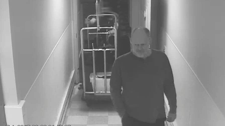 The Las Vegas shooter's final days were caught on surveillance tape. The chilling video shows him loading in guns, eating alone and interacting with staff.