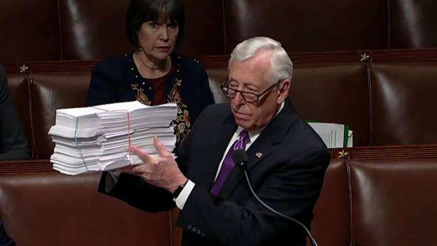 House sends government funding package to the Senate for consideration; chief congressional correspondent Mike Emanuel reports from Capitol Hill.