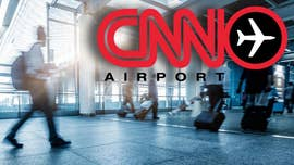 CNN's ubiquitous presence in airports -- where it broadcasts from thousands of screens to a captive audience of millions -- is facing new scrutiny after the cable network's hard left turn.