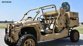 Laser weapon plus military grade ATV (All-Terrain Vehicle) equals blasting enemy drones out of the sky. This is an ingenious way to provide easily movable defense against the growing threat of attacks from enemy drones.