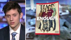 Florida school shooting survivor Kyle Kashuv left out of Time cover.