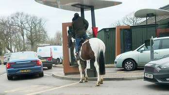 A man in the UK was apparently denied McDonald's drive-thru service because he swapped a car for a horse.