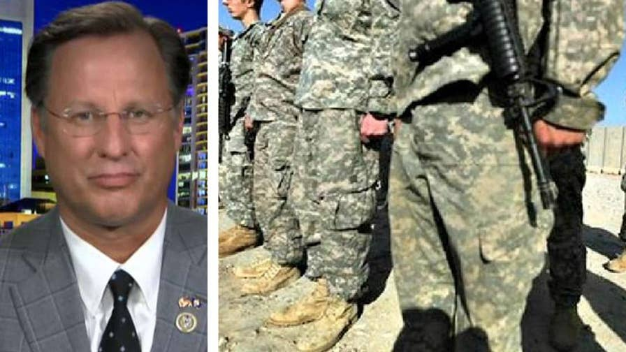 White House releases memorandum announcing policy to ban most transgender troops from serving in the military; Rep. Dave Brat reacts on 'The Ingraham Angle.'