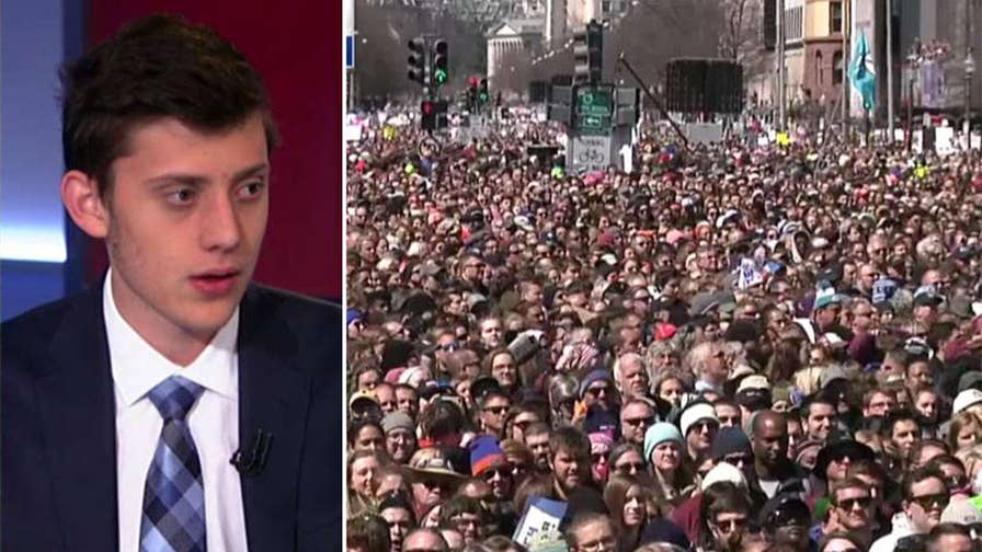 Parkland, Florida school shooting survivor Kyle Kashuv reacts to the March for Our Lives on 'America's News HQ.'