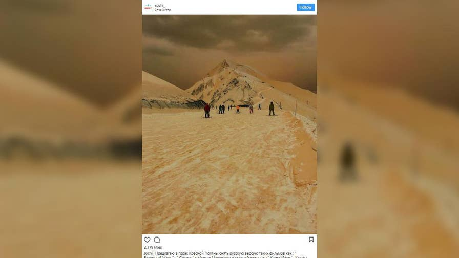 Strange phenomenon makes mountains across Eastern Europe and Russia appear orange. Many people took to social media comparing the eerie images to Mars.