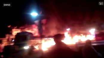 A fuel tanker caught fire in India. A man jumped into the burning truck and drove it to safety leaving a jaw-dropping 'river of fire' in his wake. Watch this video that looks like a scene right out of a Hollywood movie.